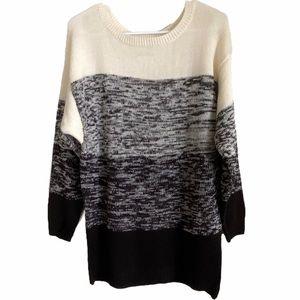 BLU DAHLIA   Color Block Sweater Medium
